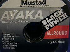 Mustad Ayaka Black Power Japan I.G.F.A class 0,14 100m pesca spinning trota