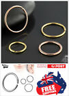 316L Steel Seamless Hoop Ring 16-22g Black Gold Nose Ear Lip Body Piercing 1pc