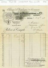 Dépt 69 - Lyon 11 Rue Grenette - Belle Entête d'une Parfumerie Savonnerie 1911