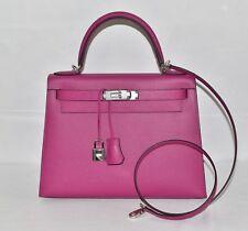 Hermes Leather Kelly 28 Bag Rose Pourpre Epsom BNIB