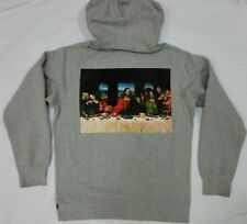 100% Legit Supreme Last Supper Pullover Hoodie Sweatshirt Box Logo Jesus Rare