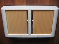 VTG ART DECO MEDICAL DENTAL BATHROOM DISPLAY TAMBOUR DOOR CABINET TABLE OR WALL