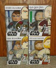 Mighty Muggs Star Wars - Anakin & Luke Skywalker, Qui-gon Jinn, Obi-Wan Kenobi