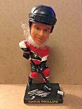 Chris Phillips SIGNED Ottawa Senators BOBBLEHEAD / Stadium Giveaway SGA
