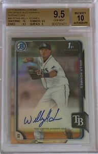 2015 Bowman Chrome Prospects WILLY ADAMES Refractor Autograph #382/499 BGS 9.5
