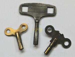 Three vintage CLOCK KEYS - for approx. 4mm shaft.