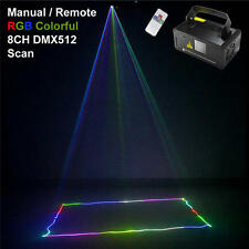 400mW RGB Remote DMX SUNY Laser Light Scan DJ Dance Party Show Stage DM-RGB400