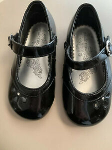 STRIDE RITE INFANT GIRLS VALERIE BLACK PATENT LEATHER MARY JANES SIZE 6