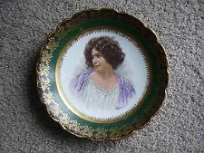 Limoges U.C.Co. Porcelain Portrait Plate/ Signed E. Vettori