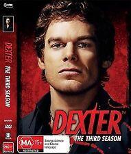 Dexter : Season 3 (DVD, 2009, 4-Disc Set) LIKE NEW REGION 4 DVD