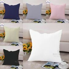 Plain Cushion Cover 16x16 inch 40x40 cm Home Decor Office Sofa Pillow Case