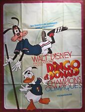 Affiche DINGO ET DONALD CHAMPIONS OLYMPIQUES Superstar Goofy 120x160cm *