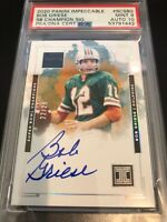 2020 Panini Impeccable #SCSBG BOB GRIESE Super Bowl Champion PSA/DNA 9 MINT