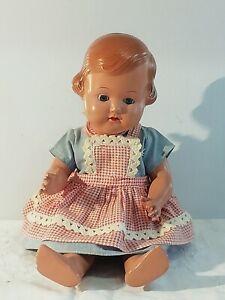 Alte Cellba-Puppe 34 (Celba) 50er Jahre in Original Kleidung