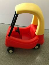 Vintage Little Tikes Dollhouse Size Mini Cozy Coupe Car Toy Small Red Yellow EUC