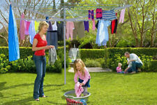 ROTARY AIRER 4 ARM  CLOTHES GARDEN WASHING LINE DRYER 50M FOLDING OUTDOOR DRY
