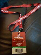 2018 AFL Grand Final CARLTON DRAUGHT FRONT BAR LANYARD West Coast & Collingwood