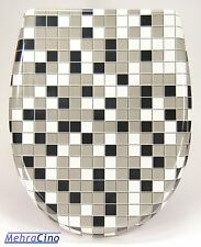 WC-Sitz Toilettendeckel Mosaik mit Absenkautomatik und Abnehmbar-8