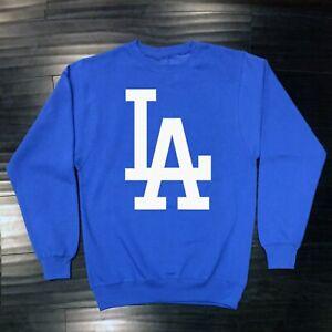 Los Angeles Dodgers Crew Neck Sweat Shirt Sweatshirt Adult Men Cotton LA LAD