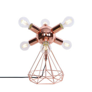 PAS Table Lamp 6-Lights Metal Finished Creative Rose Gold Fixture Decor 110-220V