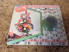 VINTAGE Garden Club No. 211 Flower Frog~brass Pins 100 Lead Base~ Green Metal