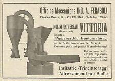 W5049 Molini universali Vittoria - Ing. Feraboli - Cremona - Pubblicità 1943