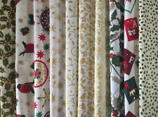 """CHRISTMAS 100% COTTON FABRIC 10 x 10"""" CREAM SQUARES CRAFT PATCHWORK CHARM PACK"""