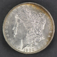 1900 $1 MORGAN SILVER DOLLAR - NEAT TONING - LOT#J321