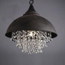 Loft Rustic Chandelier Light Pendant Vintage Industrial Crystal Ceiling Fixture