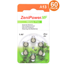Zenipower Hearing Aid Batteries Size 13 1.45V, PR48 (60 Pack)