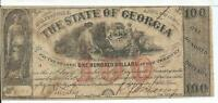 $100 Milledgeville CSA State of Georgia 1864 Red OP Bank Note Cr21 #8503