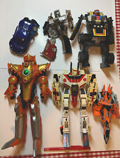 RARE VINTAGE ROBOTS TRANSFORMERS POWER RANGERS & OTHERS LOT 8 As Is