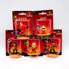 Set Of 5 The Incredibles Action Figures Collectible Disney Pixar Cake Toppers