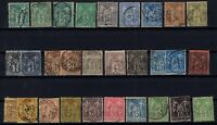 B137280/ FRANCE – SAGE TYPE – YEARS 1876 - 1898 USED CLASSIC LOT – CV 191 $