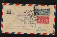 US  first flight to   San Juan   1929       MS1219