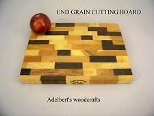 "End-grain Multi Wood Cutting Board / Chopping Block 11""x 8 1/2""x 1"""