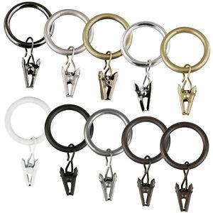 Gardinenringe mit Klammern Gardinen Ringe für ROLLMAXXX Gardinienstange