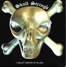 LOT OF 3 SKULL ELECTRIC GUITAR STRINGS EX LIGHT DROP D 9-48 Heavy Metal Inc