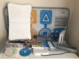 Nintendo Wii & Wii Fit & Treasure Adventure Includes Wii Bored & Trainer Mat