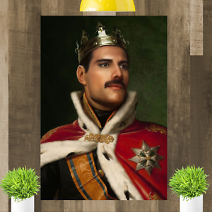 Queen Freddie Mercury Framed Canvas Art Picture Print Ready To Hang