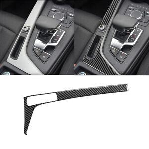 Carbon Fiber Gear Shift Side Panel Interior Sticker Trim For Audi A4 B9 2017-19