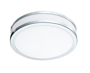 Eglo Lighting 95682A Palermo 2 - 1-Light LED Ceiling Light - Chrome and White  -