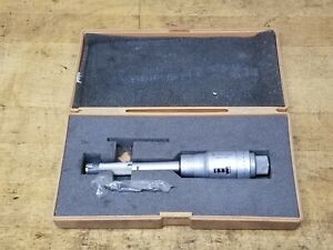 """Mitutoyo .5-.6"""" Bore Micrometer Digit Intrimike Hole Gage"""