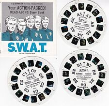 1970's Viewmaster 3 Reel Set S.W.A.T. TV Show W/Booklet