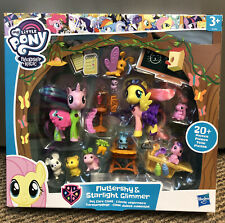 My Little Pony Fluttershy Starlight Glimmer Pet Care Class Figure play set New