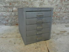 vintage metal industrial drawers stripped polished retail shop fittings retro