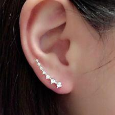 Lady's Elegant multiple Crystal Rhinestone Ear Stud Earrings Jewellery For Women