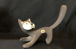 Vintage Jaap Ravelli Cat figurine Modern Dutch Pottery Rare Collectable Holland