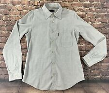 Armani Exchange Size M Mens Shirt Slim Fit Long Sleeve Button Front 100% Cotton