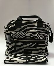 Marc Jacobs Zebra Printed Biker Baby Diaper Shoulder Bag Travel Tote